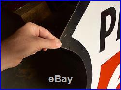 Original Porcelain Phillips 66 48 in. Advertising Gas Oil Sign Minty Condition