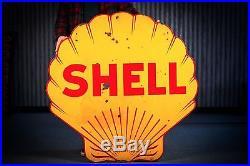 Original Porcelain Shell Gasoline Sign 1920's