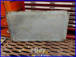 Original Porcelain Sunray DX Oil Co Oil Gas Well Lease Sign, Sun Sunoco DX