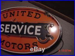 Original Porcelain United Motors Service Neon Sign 28x48