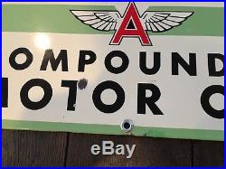 Original RARE Flying A Tydol Compounded Motor Oil porcelain sign Free Shipping