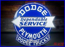 Original Rare Dodge Trucks Plymouth Mopar Porcelain Dealership Sign