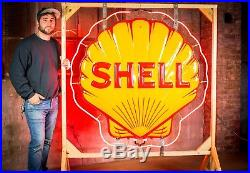Original Shell Gas Oil Porcelain Neon Sign- MINT