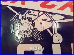 Original Socony Aircraft Oils Porcelain Sign, Standard Oil of NY