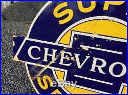 Original Super Chevrolet Service Dealership Porcelain Sign Walker & Co