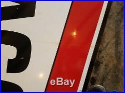 Original TEXACO Motor Oil Filling Station Porcelain Sign 8ft
