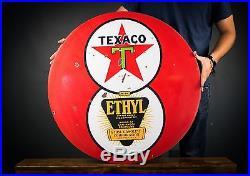Original Texaco 8ball porcelain Sign 30 real deal 100% AUTHENTIC