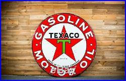Original Texaco Porcelain Gas Oil Sign