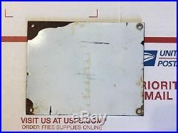Original USED Porcelain 5x4 Texaco Dealership Restroom Gas Station Sign OBO
