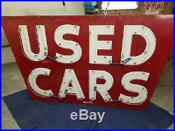 Original Used Cars Porcelain Neon Dealership Sign