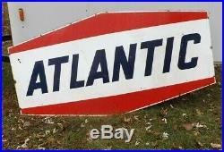 Original Vintage Atlantic Gas Sign 77 x 40 Porcelain