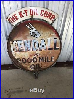 Original porcelain gas oil sign, Sign, Oil, Kendall, Sign, Vintage, Porc