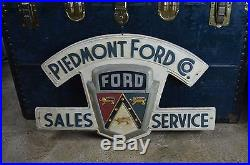 Original rare FORD SALES and SERVICE Piedmont Company non porcelain sign