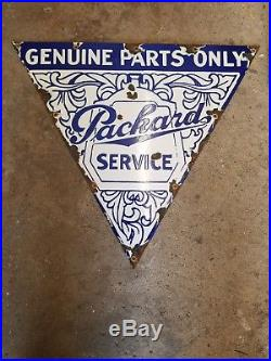 Packard Genuine Parts Service Porcelain Sign Gas Oil Car Truck
