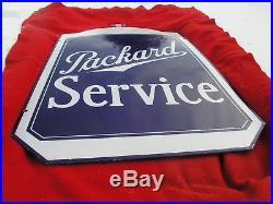 Packard Radiator Double Sided Porcelain Sign With Frame