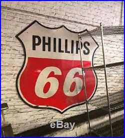 Phillips 66 70 Double Sided Porcelain Sign