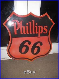 Phillips 66 Double Sided Porcelain Sign