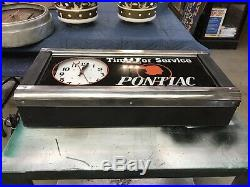 Pontiac Clock, Not Porcelain, Gas And Oil, Chevrolet And Ford