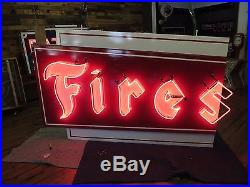 Porcelain Firestone Sign 1960's Neon Advertising Tire Gas Oil Station 15ft NICE
