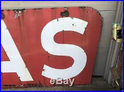 Porcelain Gas Neon Signs, Gas And Oil, Chevrolet And Ford