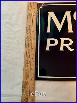 Porcelain McCall Printed Patterns Double Sided Flange Advertising Sign