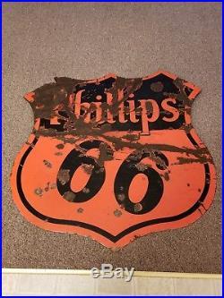 Porcelain Phillips 66 DSP 30 Sign Original