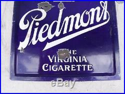Porcelain Piedmont Virginia Cigarette Tobacco Double Sided Sign Gas Oil