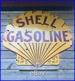 Porcelain Shell Antique Sign 42inch