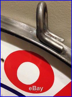 Porcelain Sign Ring 30.4 Hooks to hang double. Signs not included
