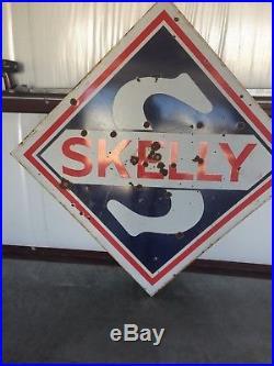 Porcelain Skelly Service Station Sign