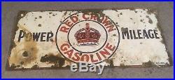 Porcelain signs gas oilPorcelain sign RED CROWN GASOLINE