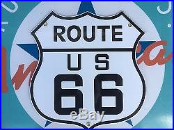 Quality ROUTE 66 with 8 STATE SET porcelain coated 18 GAUGE steel signs 10 signs