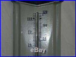 RARE 3' Prestone Anti-Freeze Porcelain Metal Thermometer Sign Gas Station Oil Ad