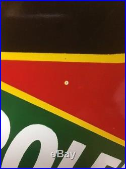 RARE Original DX SUNRAY Petroleum Products Porcelain Advertising Sign