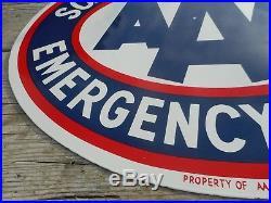 RARE SOUTH DAKOTA AAA AUTO CLUB Service Porcelain Gas Oil DSP ADVERTISING SIGN