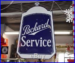 Rare 1930's Packard Service radiator shaped 2sided porcelain dealership sign