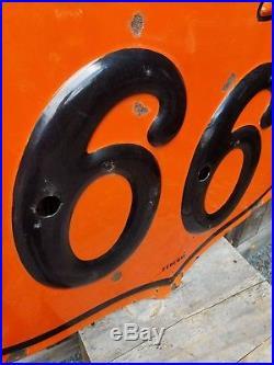 Rare 1956 Phillips 66 Neon skin Sign. Embossed. Porcelain. 4ftx4ft