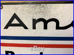 Rare 1960s American Racing Equipment Racing Wheels Porcelain Dealer Sign