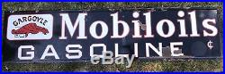 Rare Antique 20s Gargoyle Mobiloils Gasoline Porcelain Mobil Oil Gas Sign 86