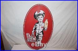 Rare Large Vintage 1957 Arden Milk Eggs Butter Gas Oil 36 Porcelain Metal Sign