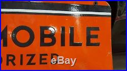 Rare Oldsmobile Authorized Service Genuine Parts Double Sided Porcelain Sign