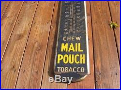 Rare Original Mail Pouch Thermometer Tobacco Painted Not Porcelain Gas Oil Sign