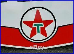 Rare Vintage Original TEXACO Gas Station FIREPLACE CHIMNEY SIGN porcelain 60