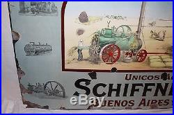 Rare c1900 Ransomes Sims & Jefferies Steam Engine Tractor Gas Oil Porcelain Sign