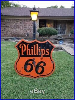 Rare phillips 66 porcelain sign 48in Single Sided