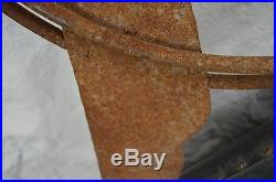 Rare size CHIEF PONTIAC weathervane metal non porcelain sign rare size