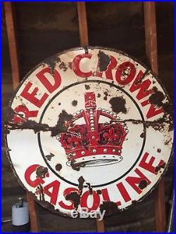 Red Crown Porcelain Sign 42 In