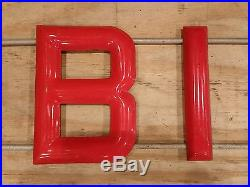Red MOBILUBRICATION letters Porcelain Sign Mobil Lubrication Gas Oil petroliana