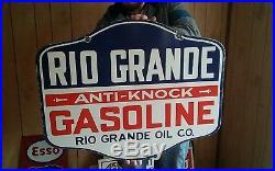 Rio Grande Gasoline Porcelain Sign