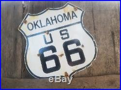 Route 66Oklahoma Route 66 vintage steel porcelain road sign